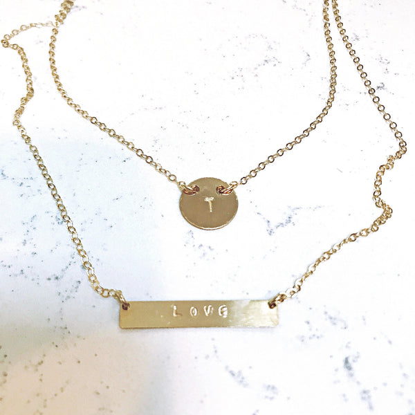 custom bar necklace shoppe california