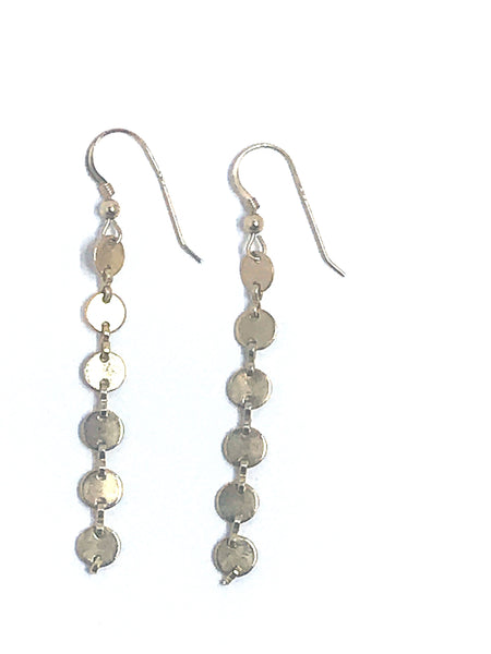 disc chain earring by shoppe california
