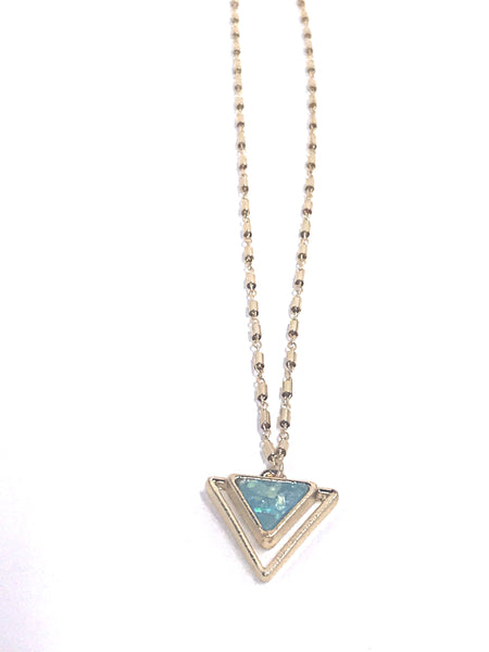 opal triangle necklace shoppe california