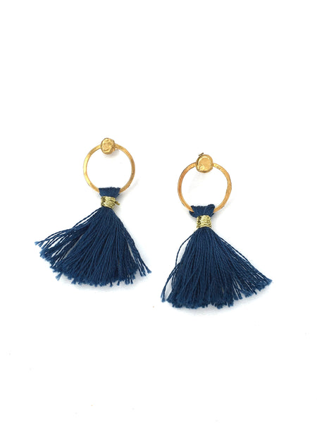 sediment post tassel earrings by Housgoods