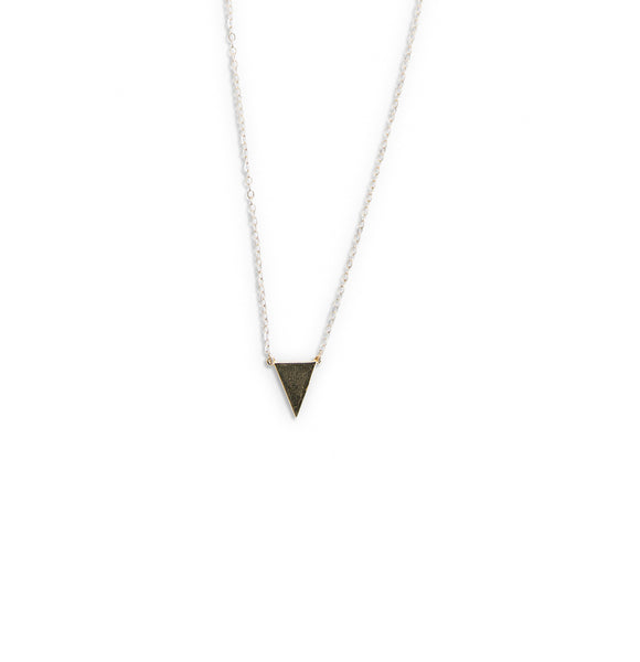 Handmade triangle point necklace by Erin Fader
