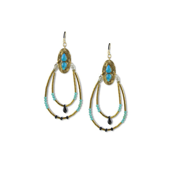 Goldfill handmade earrings inspired by Ancient Egypt by Double Happiness Jewelry