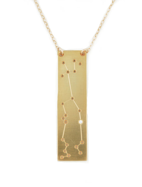 Aquarius constellation necklace by Thatch Jewelry