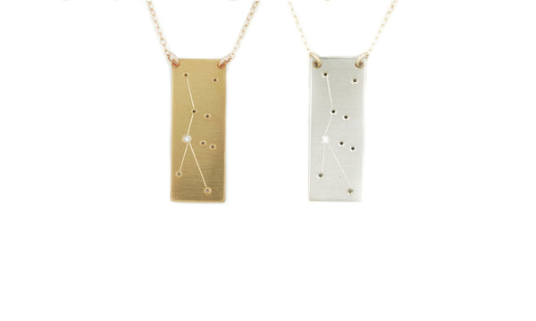 Cancer constellation necklace by Thatch Jewelry