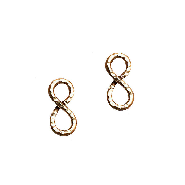 mini infinity post earrings shoppe california