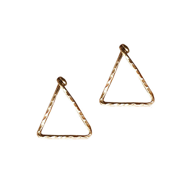 mini triangle post earrings shoppe california