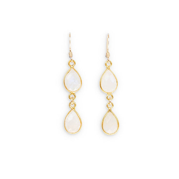moonstone drop earrings by Erin Fader