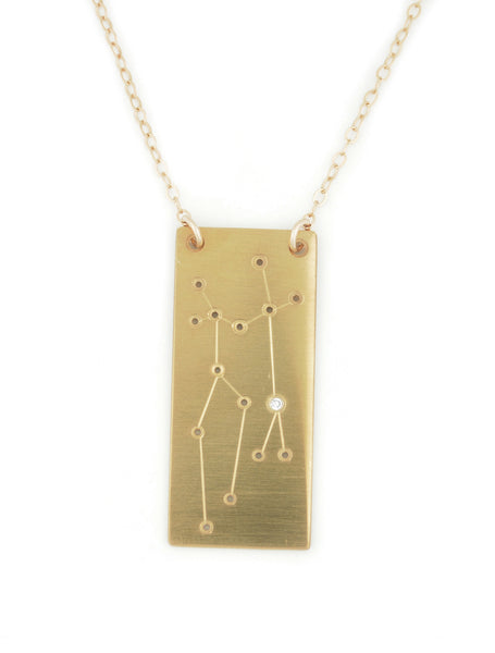 Gemini constellation necklace by Thatch Jewelry