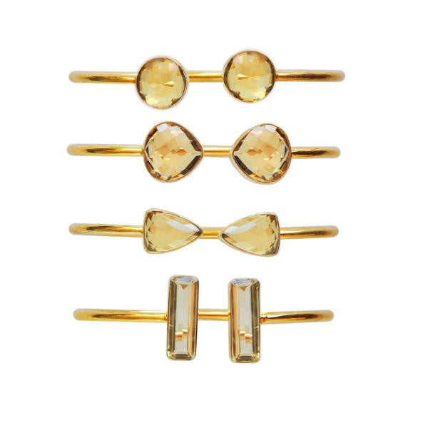 Citrine gemstone bangles by Love Tatum