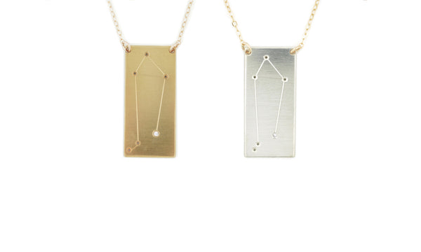 Libra constellation necklace by Thatch Jewelry