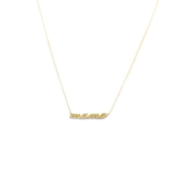 mama script necklace by Thatch Jewelry