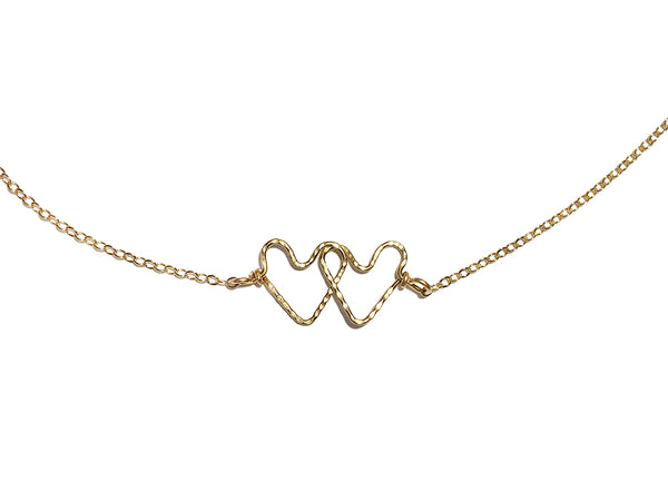 interlocking hammered heart necklace shoppe california