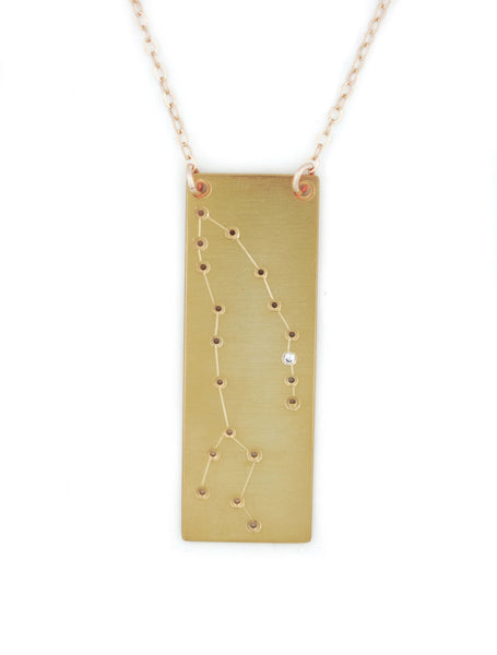 Pisces constellation necklace by Thatch Jewelry