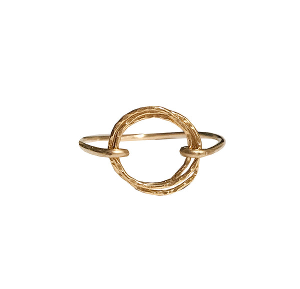 triple hammered circle ring shoppe california