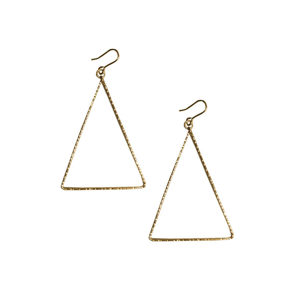 handmade isosceles hoop earrings by Lush Jewelry