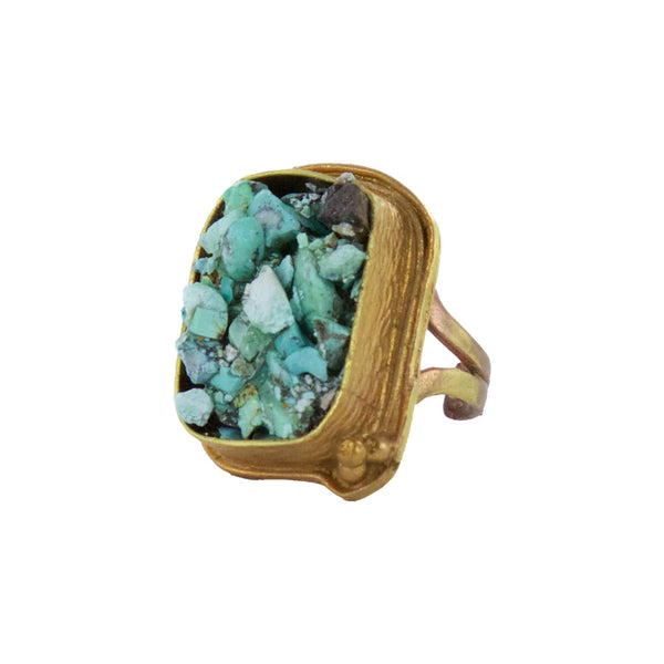 Indo turquoise ring by Double Happiness Jewelry