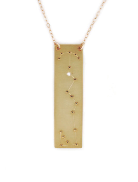 Scorpio constellation necklace by Thatch Jewelry