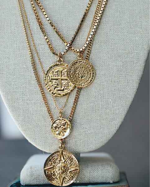 vintage coin necklace shoppe california