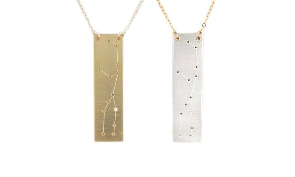 Virgo constellation necklace by Thatch Jewelry