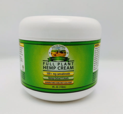 Enlita Farms CBD oil Full-spectrum Hemp Extract in Body Cream - 4 oz
