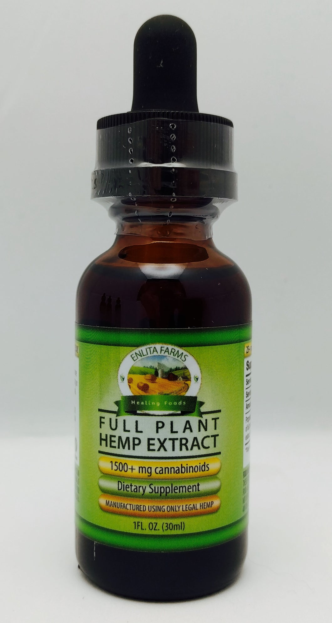 Enlita Farms CBD oil Full-spectrum Hemp Extract Tincture 1500mg - 30 mL