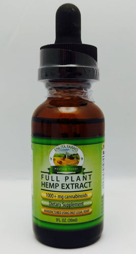 Enlita Farms CBD oil Full-spectrum Hemp Extract Tincture 1000mg 30 mL