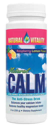 Natural Vitality Natural Calm - Raspberry-Lemon - 8oz