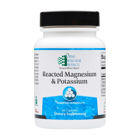 Ortho Molecular Reacted Magnesium and Potassium - 60 ct
