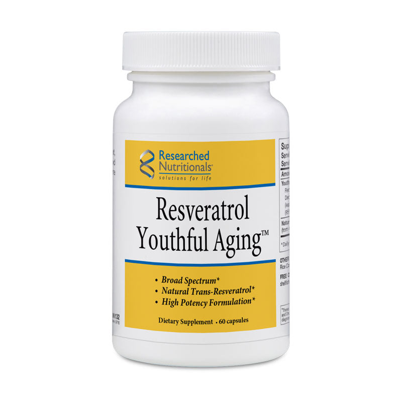Researched Nutritionals Resveratrol Youthful Aging - 60 ct