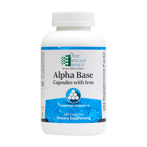 Ortho Molecular Alpha Base with Iron - 240 ct