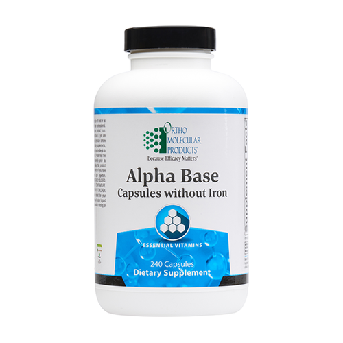 Ortho Molecular Alpha Base without Iron - 240 ct