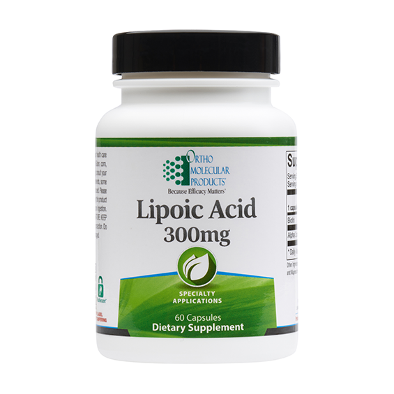 Ortho Molecular Lipoic Acid 300 mg - 60 ct