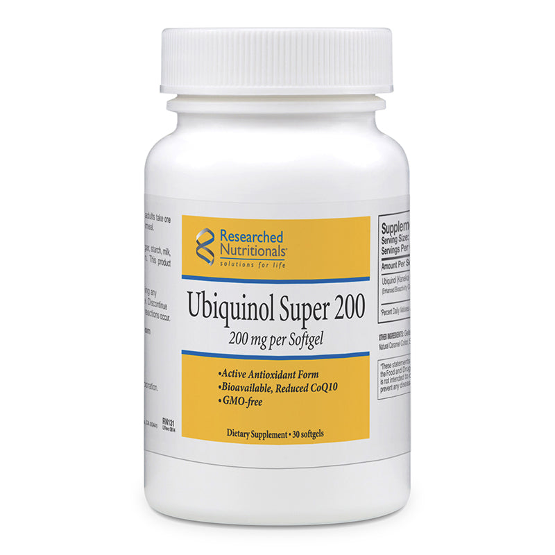 Researched Nutritionals Ubiquinol Super 200 - 30 ct