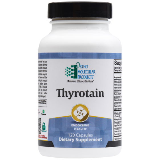 Ortho Molecular Thyrotain - 120ct