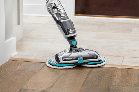 Image of BISSELL - SpinWave Cordless Powered Mop - Titanium/Electric Blue
