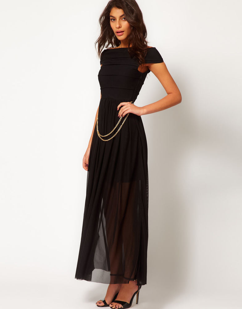 Bandage Chain Maxi Dress