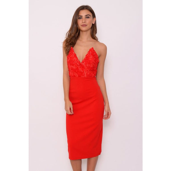 Red Textured pointed bust - 1001noches