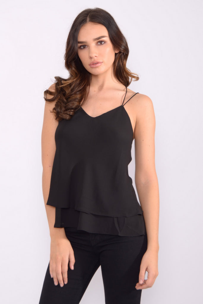 Black Spaghetti Cami Top