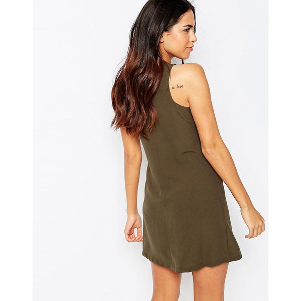 Military Detail shift dress - 1001noches