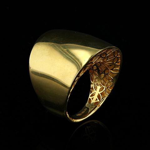 10kt Yellow Gold Fancy Dome Woman Ring