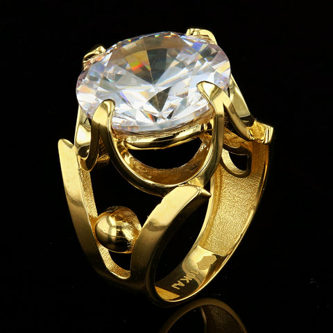 10kt Yellow Gold Woman Ring with Stone Color