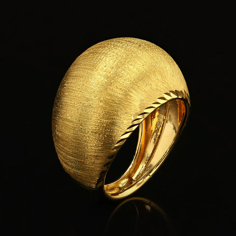 14kt Yellow Gold Fancy Woman Ring Dome