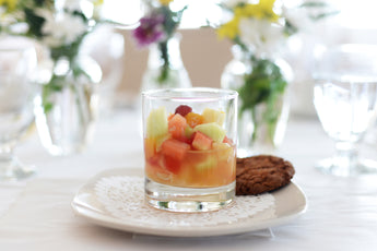 Salade de fruits sur sirop de patate douce