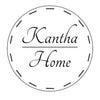Kantha Home logo featuring a dotted circle inside a larger circle with Kantha Home inside the inner circle.