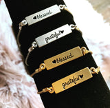 Blessed and Grateful Reversible Bracelet