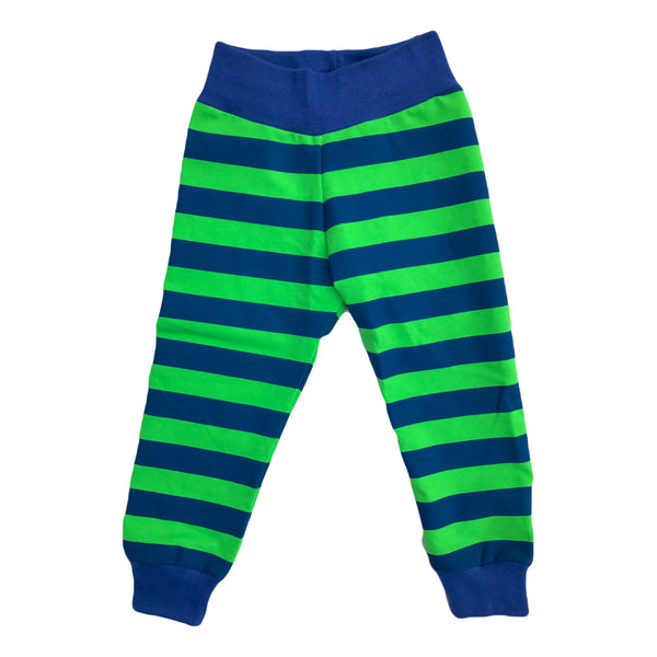 Seahawks Inspired Blue & Green Striped Joggers Comfy Pants