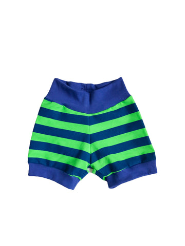 Seahawks Inspired Blue & Green Striped Shorts