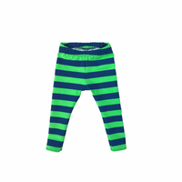 Seahawks Inspired Blue & Green Striped Leggings