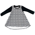 Black & White Pandas High Low Dress