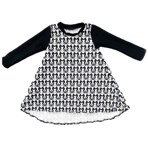 Black & White Pandas High Low Dress- PREORDER